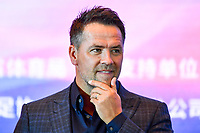 15th November 2019, Changsha City, China;   English former footballer Michael Owen shows up at a press conference, for the Legend Footballer Challenge in Changsha city, central Chinas Hunan province