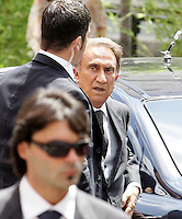 Il giornalista Emilio Fede arriva al matrimonio tra la modella Elisabetta Gregoraci ed il team manager della Renault Formula Uno Flavio Briatore alla Chiesa di Santo Spirito in Sassia, Roma, 14 giugno 2008..Italian journalist Emilio Fede arrives for the wedding ceremony between top model Elisabetta Gregoraci and Renault F1 boss Flavio Briatore at St. Spirito in Sassia's church in Rome, 14 june 2008..UPDATE IMAGES PRESS/Riccardo De Luca