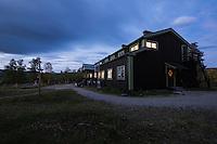 Dusk at STF Saltoluokta Fjällstation, Kungsleden trail, Lapland, Sweden