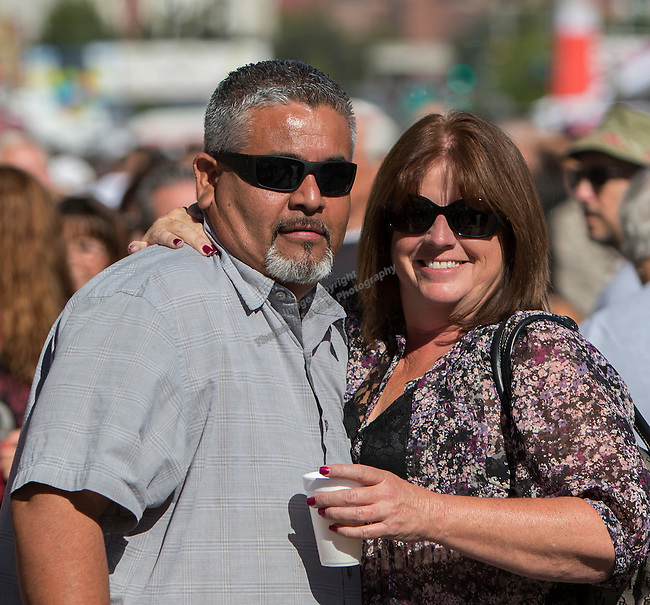 Joe Gonsalez and Patty Sykes from Modesto, CA attend the 35th Annual Eldorado Great Italian Festival held in downtown Reno on Saturday, October 8, 2016.