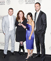Channing Tatum, Deborah Scranton, Jenna Dewan Tatum and Reid Carolin at The George Foster Peabody Awards at the Waldorf Astoria in New York City. May 21, 2012. © Laura Trevino/MediaPunch Inc.