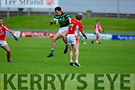 Crunch action as Jason Hickson and Jack Barry  come together in the West Kerry v St Brendans qualifier game in the Senior Football Championship game on Sunday.