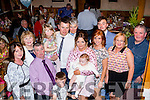 New Arrival<br /> ---------------<br /> Baby Alex Donovan, Abbeydorney, was Christened last Saturday by his parents Chris&amp;Emma (centre) along with their other two children Luke&amp;Farrah,in St Brendans church, Tralee by Fr Padraig Lynch and after to a family celebration in Kate Browns Ardfert.