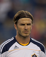 Los Angeles Galaxy midfielder David Beckham (23). In a Major League Soccer (MLS) match, the Los Angeles Galaxy defeated the New England Revolution, 1-0, at Gillette Stadium on May 28, 2011.
