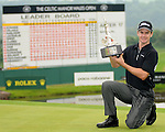Scott Strange after winning the Celtic Manor Wales Open. Celtic Manor Wales Open 2008 © IJC Photography 2008, iancook@ijcphotography.co.uk..