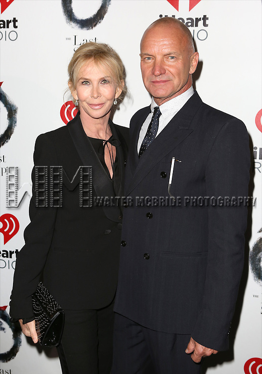 Trudie Styler and Sting attends the Broadway Opening Night performance of 'The Last Ship' at the Neil Simon Theatre on October 26, 2014 in New York City.