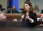 Nevada Assemblywoman Shelly Shelton, R-Las Vegas, speaks during Assembly floor debate at the Legislative Building in Carson City, Nev., on Sunday, May 31, 2015.  <br /> Photo by Cathleen Allison
