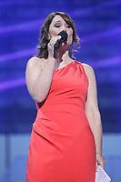 "Daniela Lumbroso performs at the ""Paris-Quebec"" show of the 44th Festival d'ete de Quebec on the Plains of Abraham in Quebec city Thursday July 7, 2011."