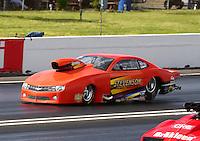 May 30, 2014; Englishtown, NJ, USA; NHRA pro mod driver Dan Stevenson during qualifying for the Summernationals at Raceway Park. Mandatory Credit: Mark J. Rebilas-
