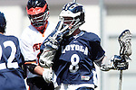 Beverly Hills, CA 04/12/10 - Maxwell Lightbourn (Loyola # 8) in action during the Loyola-Beverly Hills Boys Varsity Lacrosse game at Beverly Hills High School, Loyola defeated Beverly Hills 16-0.