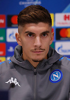 26th November 2019; Anfield, Liverpool, Merseyside, England; UEFA Champions League, Liverpool versus Napoli, Press Conferences;Giovanni Di Lorenzo of SSC Napoli i speaking to the media during today's press conference at Anfield ahead of tomorrow's Champions League group match against Liverpool - Editorial Use