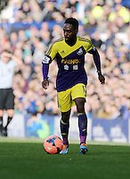 Pictured: Nathan Dyer of Swansea. Sunday 16 February 2014<br /> Re: FA Cup, Everton v Swansea City FC at Goodison Park, Liverpool, UK.