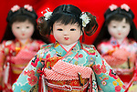 Iwatsuki ningyo Dolls are displayed at specialty doll store Tougyoku in Iwatsuki, Saitama Prefecture, Japan on Feb. 01, 2017. The dolls have been made in Japan for over 300 years. ROB GILHOOLY PHOTO