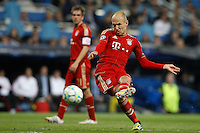 25.04.2012 SPAIN -  UEFA Champions League Semi-Final 2nd leg  match played between Real Madrid CF vs  FC Bayern Munchen 2 (1) - 1 (3) at Santiago Bernabeu stadium. The picture show Arjen Robben  (Midfielders Bayern Munchen)