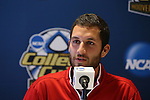 08 December 2012: Indiana's Luis Soffner. The Indiana University Hoosiers held a press conference at Regions Park Stadium in Hoover, Alabama one day before playing in the 2012 NCAA Division I Men's Soccer College Cup championship game.