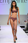 Model walks runway in lingerie from Empreinte, during the Lingerie Fashion Night - Romancing The Runway show, by CurvExpo and Lycra on February 23, 2015.