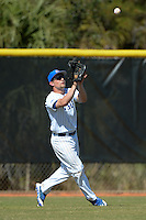 South Dakota State JackRabbits outfielder Michael Finocchiaro (29) catches a fly ball during a game against the Georgetown Hoyas at South County Regional Park on March 9, 2014 in Port Charlotte, Florida.  Georgetown defeated South Dakota 7-4.  (Mike Janes/Four Seam Images)