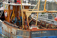 Silver Viking fishing boat, Peel, Isle of Man.
