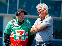 Mar 19, 2017; Gainesville , FL, USA; NHRA funny car team owner Jim Head (right) and Jim Dunn during the Gatornationals at Gainesville Raceway. Mandatory Credit: Mark J. Rebilas-USA TODAY Sports