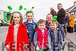 Kelly moyniha, Emer rahilly, Neil Moynihan and Jack rahilly enjoying the Rathmore St Patricks parade on Sunday