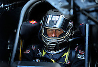 Jul. 24, 2009; Sonoma, CA, USA; NHRA funny car driver Jeff Diehl during qualifying for the Fram Autolite Nationals at Infineon Raceway. Mandatory Credit: Mark J. Rebilas-