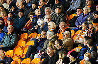 A Blackpool fan catches the ball after it flew into the stand<br /> <br /> Photographer Alex Dodd/CameraSport<br /> <br /> The EFL Checkatrade Trophy Northern Group C - Blackpool v West Bromwich Albion U21 - Tuesday 9th October 2018 - Bloomfield Road - Blackpool<br />  <br /> World Copyright &copy; 2018 CameraSport. All rights reserved. 43 Linden Ave. Countesthorpe. Leicester. England. LE8 5PG - Tel: +44 (0) 116 277 4147 - admin@camerasport.com - www.camerasport.com