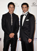 """HONG KONG - MARCH 22:  Hong Kong actor Daniel Wu (L) and Japanese actor Masaya Kato attend the Opening Ceremony of the 33rd Hong Kong International Film Festival, the Gala Premiere of the opening films """"Shinjuku Incident """" and """"Night and Fog"""", at the Hong Kong Convention and Exhibition Centre on March 22, 2009 in Hong Kong.  Photo by Victor Fraile / studioEAST"""