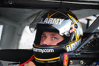 May 1, 2009; Richmond, VA, USA; NASCAR Sprint Cup Series driver Ryan Newman during qualifying for the Russ Friedman 400 at the Richmond International Raceway. Mandatory Credit: Mark J. Rebilas-