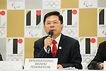 Anthony Goh, <br /> AUGUST 7, 2015 : <br /> International Wushu Federation (IWUF) <br /> holds a media conference following its interview <br /> with the Tokyo 2020 Organising Committee in Tokyo Japan. <br /> (Photo by YUTAKA/AFLO SPORT)