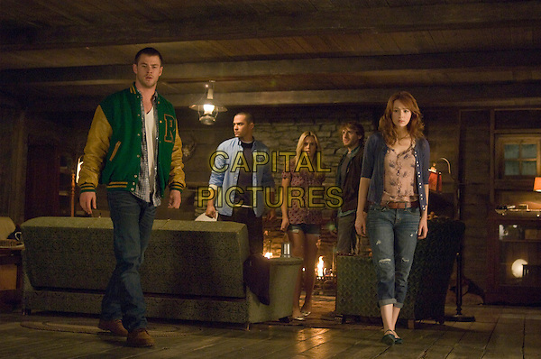 Chris Hemsworth, Jesse Williams, Anna Hutchison, Fran Kranz & Kristen Connolly.in The Cabin in the Woods .*Filmstill - Editorial Use Only*.CAP/FB.Supplied by Capital Pictures.