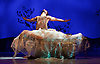 Snow White <br /> Ballet Lorent at Sadlers Wells, London, Great Britain <br /> 25th March 2016 <br /> Rehearsal <br /> <br /> artistic director Viv Lorent MBE <br /> <br /> <br /> Natalie Trewinnard as Snow White <br /> Gavin Coward as Huntsman <br /> <br /> <br /> <br /> <br /> <br /> Photograph by Elliott Franks <br /> Image licensed to Elliott Franks Photography Services