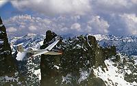 Segelfliegen in den Seealpen Einflug zum Glacier blanc: EUROPA, FRANKREICH, HAUT ALPES (EUROPE), 12.08.2013:Segelfliegen in den Seealpen Einflug zum Glacier blanc