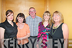 Enjoying the Annual Fe?ile Siamsa Ti?re weekend at the Mount Brandon hotel last Friday night were L-R Margaret Conway,Ann Divane,John Chambers,Siobhan Divane and Margaret Culloty,all Tralee..