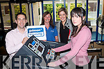 Niamh O'Donovan (on Treadmill), First Student to sign-up to a Pitman Course and get 3 months free Gym Membership. Kristian O'Donovan, Pitman Training Tralee. Also in Picture Hayley Rogers. Tralee Regional Sports and Leisure Centre. Christina O'Sullivan, Manager of Pitman Training Tralee..