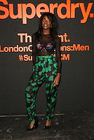 AJ Odudu attending The Superdry AW14 event, London Collections: Men held at the old sorting office<br /> London. 07/01/2014 Picture by: Henry Harris / Featureflash