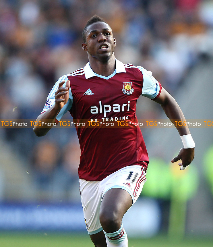 Modibo Maiga of West Ham - Hull City vs West Ham Utd, Barclays Premier League at the KC Stadium, Hull - 28/09/13 - MANDATORY CREDIT: Rob Newell/TGSPHOTO - Self billing applies where appropriate - 0845 094 6026 - contact@tgsphoto.co.uk - NO UNPAID USE