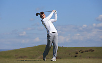 Alex Ireland during Round Two of the West of England Championship 2016, at Royal North Devon Golf Club, Westward Ho!, Devon  23/04/2016. Picture: Golffile | David Lloyd<br /> <br /> All photos usage must carry mandatory copyright credit (&copy; Golffile | David Lloyd)