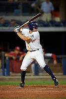 Charlotte Stone Crabs third baseman Kevin Padlo (11) at bat during a game against the Palm Beach Cardinals on April 11, 2017 at Charlotte Sports Park in Port Charlotte, Florida.  Palm Beach defeated Charlotte 12-6.  (Mike Janes/Four Seam Images)