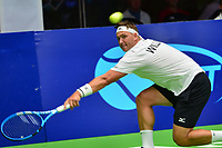 Washington, DC - July 25, 2018:  Marcus Willis of the San Diego Aviators plays in a Men's Singles match against Tennys Sandgren of the Washington Kastles  July 25, 2018.  (Photo by Don Baxter/Media Images International)