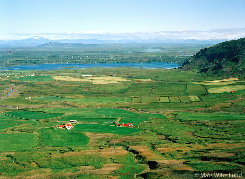 Stóri-Háls séð til austurs, Álftavatn í baksýni, Grímsnes- og Grafningshreppur. / Stori-Hals viewing east towards lake Alftavatn, Grimsnes- og Grafningshreppur.