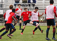Lakewood Ranch, FL : The US Soccer U-16 MNT plays a friendly match against the U-17 MNT at the Premiere Sports Complex during the Men's Youth National Team Summit in Lakewood Ranch, Fla., on January 8, 2018. (Photo by Casey Brooke Lawson)