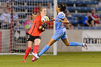 Bridgeview, IL - Saturday June 18, 2016: Libby Stout, Christen Press during a regular season National Women's Soccer League (NWSL) match between the Chicago Red Stars and the Boston Breakers at Toyota Park.