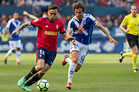 SADAR, PAMPLONA, SPAIN: The Football League, CA Osasuna vs Tenerife; Rober Ibañez tries to escape from a player from Tenerife on day 33 of Liga 123. April 1, 2018