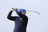 Conor Byrne (Woodbrook) on the 4th tee during Round 3 of The West of Ireland Open Championship in Co. Sligo Golf Club, Rosses Point, Sligo on Saturday 6th April 2019.<br /> Picture:  Thos Caffrey / www.golffile.ie
