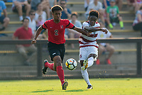 Stanford, CA - September 3, 2017: Stanford defeats the Northeastern Huskies 1-0 in a Men's soccer exhibition at Laird Q. Cagan Stadium.