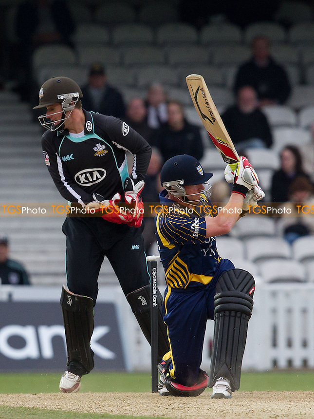 - Surrey Lions vs Durham Dynamos - Clydesdale Bank CB40 Cricket at The Kia Oval, London - 20/05/12 - MANDATORY CREDIT: Ray Lawrence/TGSPHOTO - Self billing applies where appropriate - 0845 094 6026 - contact@tgsphoto.co.uk - NO UNPAID USE.