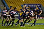 Niva Ta'auso breaks through the Otago defenders. Air New Zealand Cup rugby game played at Mt Smart Stadium, Auckland, between Counties Manukau Steelers & Otago on Thursday August 21st 2008..Otago won 22 - 8 after leading 12 - 8 at halftime.