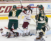 ?, Dayna Colang (UVM - 6), Dana Trivigno (BC - 8), Klara Myren (UVM - 33) - The Boston College Eagles defeated the visiting University of Vermont Catamounts 2-0 on Saturday, January 18, 2014, at Kelley Rink in Conte Forum in Chestnut Hill, Massachusetts.