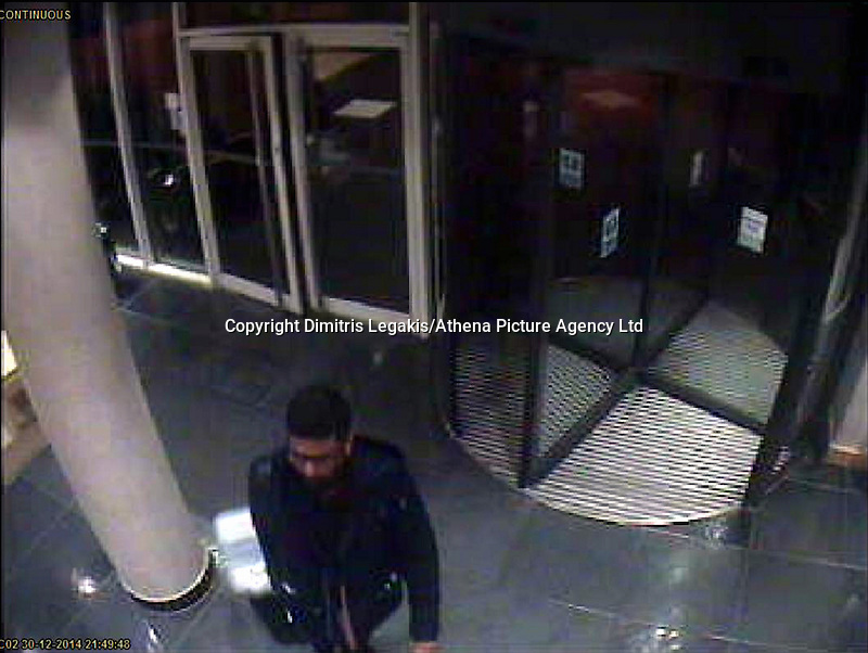 """VIDEO AVAILABLE<br /> Pictured: CCTV grab showing Sammy Almahri exiting the Future Inn hotel in Cardiff Bay on 30 December 2014<br /> Re: A man has pleaded guilty of murdering a woman in a Cardiff hotel room has been found by police.<br /> Sammy Almahri from New York, went on the run following the discovery of Nadine Aburas's body at the Future Inn, Cardiff Bay, on 31 December 2014.<br /> An international search was launched to find Mr Almahri.<br /> He was arrested by Tanzanian Police.<br /> Nadine's family has issued the following statement:  """"Justice has been done for Nadine. The right verdict has been returned. We wish to thank everyone who has assisted us throughout this tragic period in our lives.<br /> """"We ask now that we are given time to grieve and remember our beautiful girl. We will give a full statement after sentence."""""""