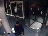 "VIDEO AVAILABLE<br /> Pictured: CCTV grab showing Sammy Almahri exiting the Future Inn hotel in Cardiff Bay on 30 December 2014<br /> Re: A man has pleaded guilty of murdering a woman in a Cardiff hotel room has been found by police.<br /> Sammy Almahri from New York, went on the run following the discovery of Nadine Aburas's body at the Future Inn, Cardiff Bay, on 31 December 2014.<br /> An international search was launched to find Mr Almahri.<br /> He was arrested by Tanzanian Police.<br /> Nadine's family has issued the following statement:  ""Justice has been done for Nadine. The right verdict has been returned. We wish to thank everyone who has assisted us throughout this tragic period in our lives.<br /> ""We ask now that we are given time to grieve and remember our beautiful girl. We will give a full statement after sentence."""